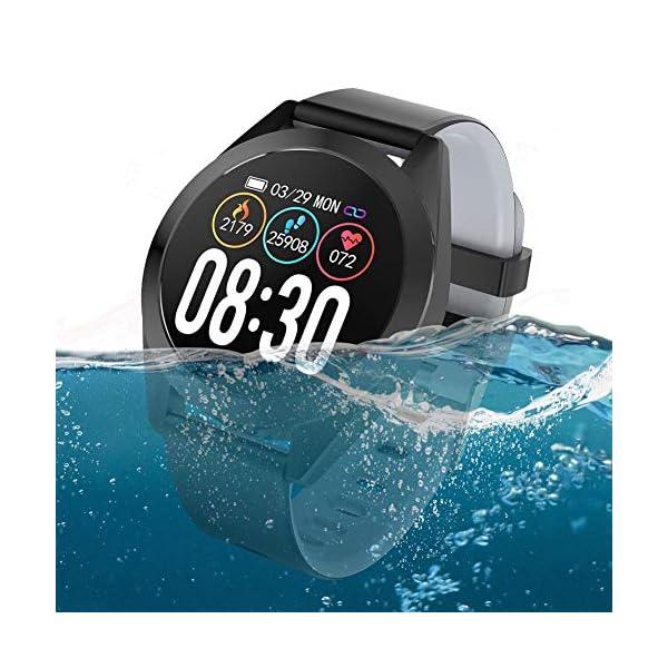 CARTEY Pulsera inteligente G50S Heart Fitness Tracker Monitoreo del corazón Paso Sueño Tasa de salud Presión arterial Deportes IP67 Impermeable Reloj inteligente Pulsera cute 1