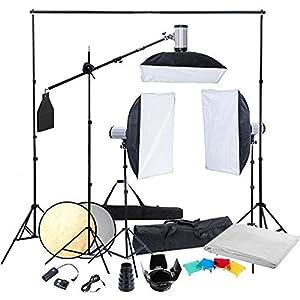 Beste Blitz-Sets für's Fotostudio: vidaXL System mit 3 Blitzen & Softboxen