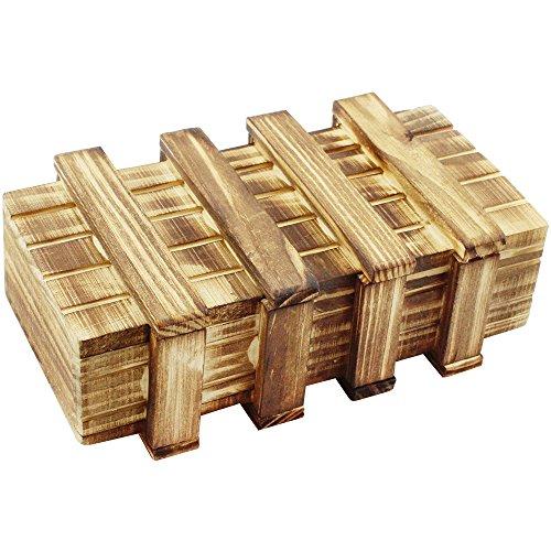 Com-four® Caja mágica, Caja mágica de Madera, Caja mágica de Regalo, Caja Fuerte de Dinero, Cofre...