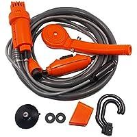 SY-Online Bomba de ducha portátil para acampada, viaje, coche, camión, lavado al aire libre, 2 metros, manguera de 12 V, para coche, encendedor de cigarrillos portátil, bomba de ducha eléctrica