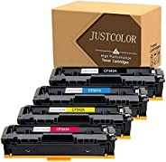 JUSTCOLOR Compatible Toner Cartridge Replacement for HP 203A CF540A CF541A CF542A CF543A Use for Color Laserje