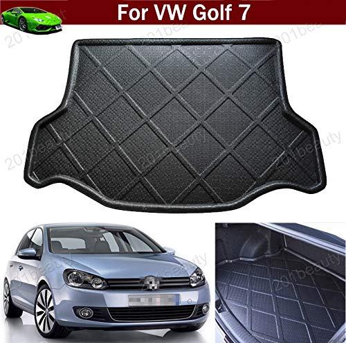 Yilaite Neu Auto-Matte Auto-Kofferraummatte Kofferraumabdeckung Gepäckraumschale Gepäckraumschale Gepäckraumabdeckung Kofferraummatte Kofferraummatte Tray Bodenmatte für Golf 7 2013-2019 2020