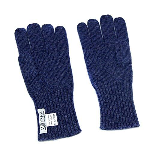 100% Kaschmir handschuhe Herren Blau , gestrickte Kaschmirhandschuhe, mongolische Kaschmir (26/2 Garn Zusammensetzung) Winterhandschuhe für Männer, Hellblau Kaschmirhandschuhe, Pashmina Handschuhe (Mongolischen Kaschmir-garn)