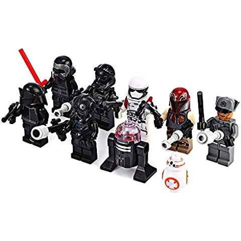 Star Wars: El Despertar de la Fuerza Captain Phasma, R2-D2, First Order Stormtrooper, Kylo Ren, TIE Fighter Pilots, First Order Officer and a First Order Crew, -Juegos de construcción- 8