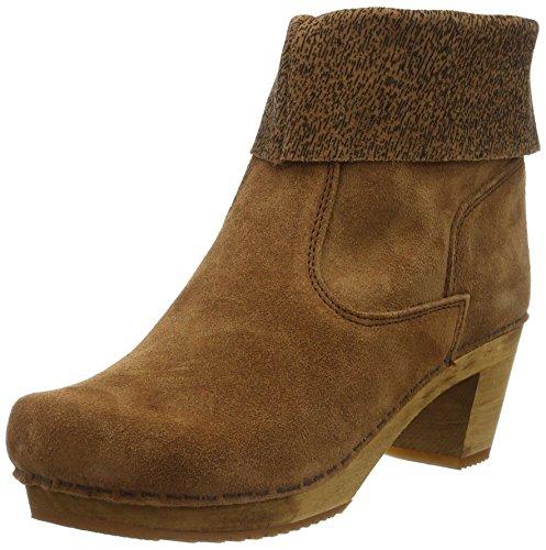 SanitaKersti Square Boot - Stivali bassi non imbottiti Donna , Marrone (Braun (Cognac 15)), 38