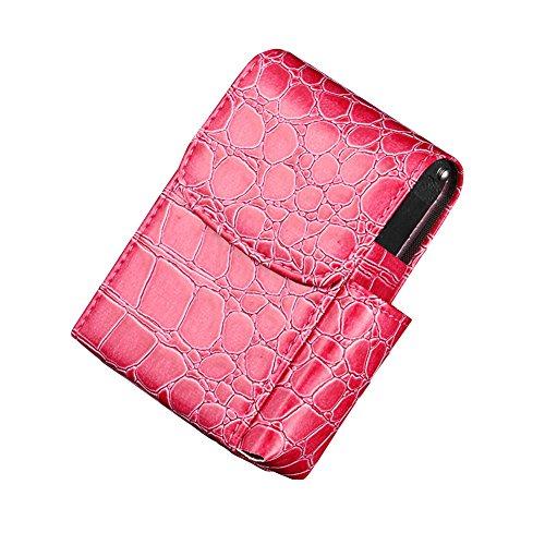 Boshiho Neutral Zigarettenhülle für Zigarettenpackungen hochwertigem Leder und Feuerzeug Tasche (Rot)