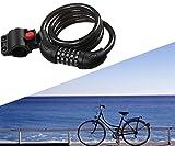 MUTANG Fahrradschloss Universal Security Kabelschloss Kombination Fahrradschloss Resetable 5-stelliges Passwort Hohe Sicherheit Anti-Diebstahl-Schlösser - 4