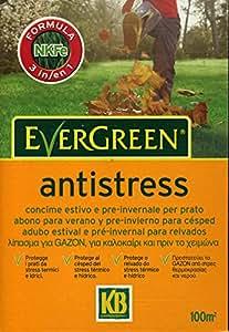 """Engrais pour l'entretien des pelouses anti stress """"evergreen"""" 2 KG PACK"""
