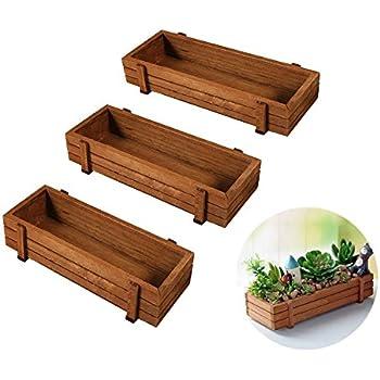 Boîte à graines en bois, intérieur ou extérieur Rebord de fenêtre de cuisine Garden Fleur de ...