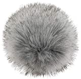 styleBREAKER Kunstfell Bommel für Mützen und Beanies, Fake Fur, Winter Fellbommel 04024161, Farbe:Hellgrau