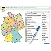 Ich kenne Deutschland - Bundesländer und Landeshauptstädte: Für die 3. bis 5. Klasse - Stabile wiederbeschreibbare Lernvorlage im großen Format, 32,5 ... ohne zu schmieren und ohne Farbrückstände.