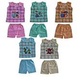 #6: Vinab Cotton Dress Set For Baby Girls & Baby Boys (12 To 18 Months,Pack Of 5)