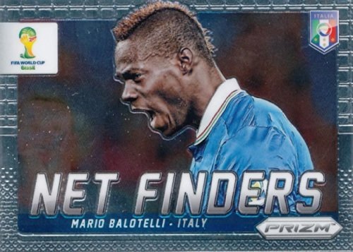 Panini Prizm World Cup Brazil 2014 Net Finder # 17 Mario Balotelli Italy