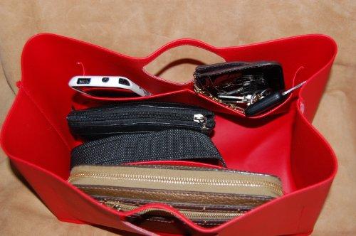 Custodia Borsa-System, Tasche per accessori borsa Butler BagButler racoglitori borse utensile Purse to go con Tasche organizer Rosso (rosso)