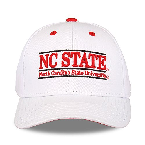 Carolina State Wolfpack Unisex NCAA Bar Design Hat, weiß, verstellbar ()