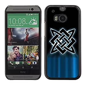 Omega Covers - Snap on Hard Back Case Cover Shell FOR HTC ONE ( M8 ) - Nordic Tribal
