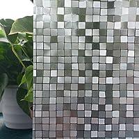 TECKWRAP–Pellicola grande mosaico quadrato 3d statico Decorative Privacy Window Film