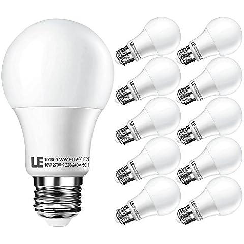 LE Lampadina a LED da 10W A60 E27, 810lm, Bianco