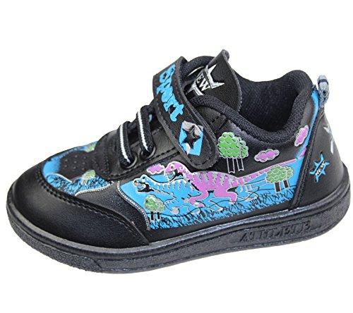 Velcro E Meninas Bombas De Meninos Bebês Executar Sneakers Sneaker Crianças Sapatos Crianças Pretos wdt0xxBq8