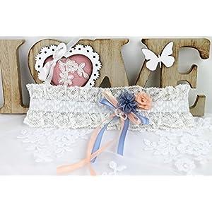 Strumpfband zur Hochzeit mit Schleife und Blumen