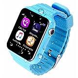 ZNSB Bambini Smart Watch,GPS Tracker Per Bambini Ragazze Ragazzi Con Fotocamera SIM Chiama Anti-Perso Pedometro Smartwatch SOS Per Iphone Smartphone Android,Blue