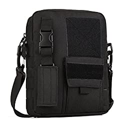 Huntvp Tactical Crossbody Messenger Shoulder Bag Casual Pack Key Satchel For Outdoors Black