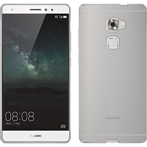 PhoneNatic Case für Huawei Mate S Hülle Silikon Crystal Clear, transparent + 2 Schutzfolien