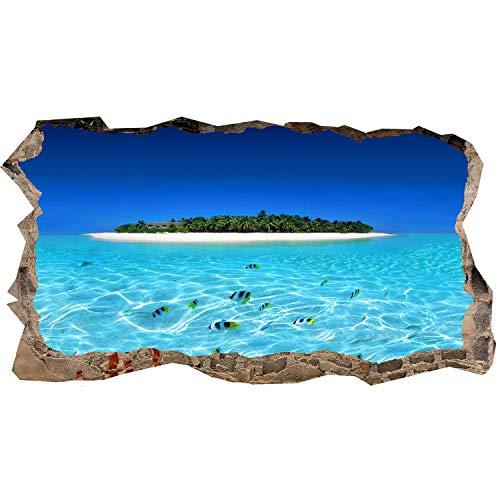Startonight 3d carta da parati isola e acqua pulita, murando fotomurali non tessuto stampa fotografica decorazione quadri murali dimensioni grande 82 x 150 cm