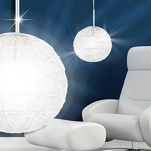mia light draht kugel h nge leuchte 310mm modern silber. Black Bedroom Furniture Sets. Home Design Ideas