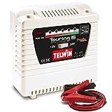 Telwin Elements TOURING 15 Autobatterie Ladegerät für 12V/24V Batterien, Ladestrom bis zu 9 A, Kapazität bis zu 115 Ah