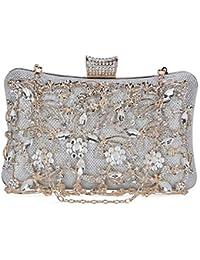Selighting Bolso de Noche de Lujo Bolso de Hombro Mujer Glitter Diamond Hard Shell Clutches Embrague Bolsos…