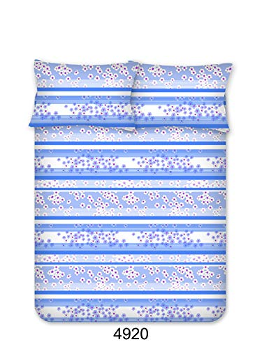Bombay Dyeing Beeze+ 120 TC Cotton Bedsheet with 2 Pillow Covers - King Size, Blue