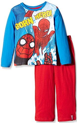 marvel-spiderman-ensemble-de-pyjama-manches-longues-garcon-bleu-royal-8-ans-taille-fabricant-8-ans