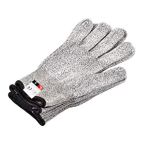 Schnittfeste Schutzhandschuhe, Hochleistungs-Schutzhandschuhe Level 5, lebensmittelechter Kochhandschuh für die Sicherheit der Hände beim Schneiden, Gartenarbeiten, Kochhandschuh 1 Paar (klein)