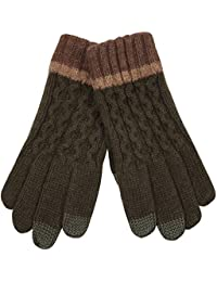 ELMA Men's Touchscreen Wool Winter Gloves Mitten For Iphone Ipad Smart Phone