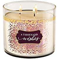 Bath And Body Works Thousand Wishes Scented 3 Wick Candle 411g- Scented Candle with essential oil.
