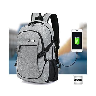 Backpack Laptop Backpacks Hoperay Business Lightweight Nylon Water Resistant Multipurpose Shoulder Notebook Backpacks with USB Charging Port Under 17-Inch Laptop and Notebook - laptop-backpacks