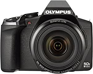 Olympus SP-100 EE Digitalkamera (16 Megapixel CMOS-Sensor, 50-fach opt. Zoom, Full-HD Video) inkl. Sucher, Punktvisier schwarz