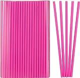 Kigima Strohhalme, Trinkhalme Jumbo pink 500 Stk 25cm lang Durchmesser 8mm