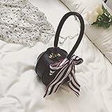 Eine ungezwungene Freizeitaktivitäten Alle-match Laterne Paket Handy Tasche alle einfachen-match Seide Handtasche, schwarz