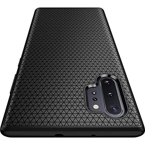 Spigen Coque Note 10 Plus, Coque Samsung Note 10 Plus [Liquid Air] Motif Géométrique Droid, Premium TPU Souple, Double Protection, Coque Compatible avec Galaxy Note 10 Plus (2019) - Matte Noir