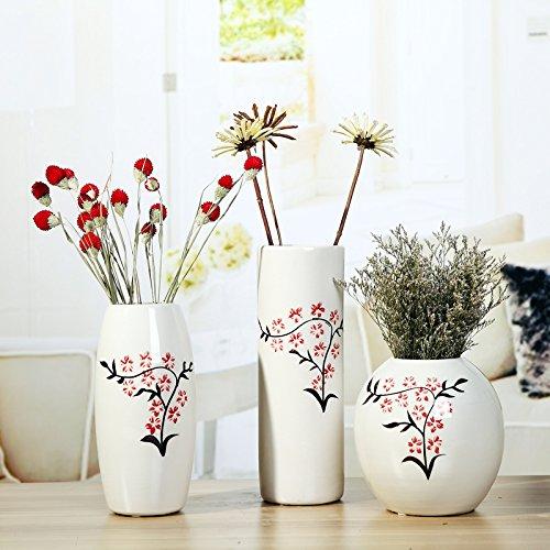 wysm Creativos simples blanco de cerámica florero de hotel restaurante vector adornos japoneses flores creativas insertan la decoración del hogar