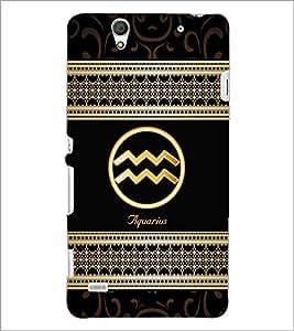 PrintDhaba Zodiac Aquarius D-2687 Back Case Cover for SONY XPERIA C4 (Multi-Coloured)