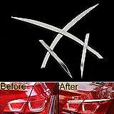 Daxey 4X Edelstahl-Auto-R¨¹cklicht-Endst¨¹ck-Lampen Styling-Aufkleber-Abdeckung Ordnungs-Streifen gepasst f¨¹r Chevrolet Cruze 2009-2014