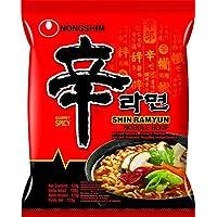 Nong Shim Instant Noodles Shin Ramyun - Paquete de 20 x 120 gr - Total: