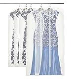 MINISTAR 5 Stück Kleidersäcke, Kleidersack Abendkleid Hochwertiger Anzugsack/Kleiderhülle aus Atmungsaktivem Material - Erstklassiger Schutz Aufbewahrung für Anzüge und Kleider