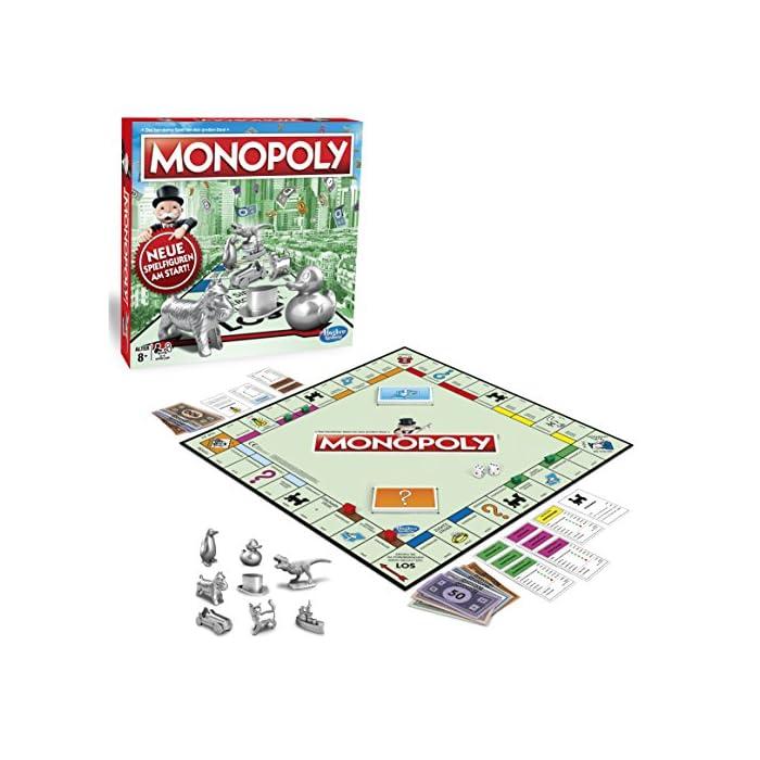 Monopoly Classic, Gesellschaftsspiel für Erwachsene & Kinder, Familienspiel, der Klassiker der Brettspiele…
