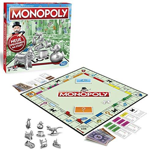 Monopoly Classic, Gesellschaftsspiel für Erwachsene & Kinder, Familienspiel, der Klassiker der Brettspiele, Gemeinschaftsspiel für 2 - 6 Personen, ab 8 Jahren -
