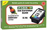 #5: Parrot Refill for Canon CL 746 Multi tri Color Ink Cartridge for Pixma iP2870 iP2870S iP2872 MG3077s MG2470 MG2570 MG 2870 MX497