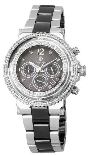 Burgmeister BM215-121 - Reloj cronógrafo de cuarzo para mujer con correa de acero inoxidable, color plateado
